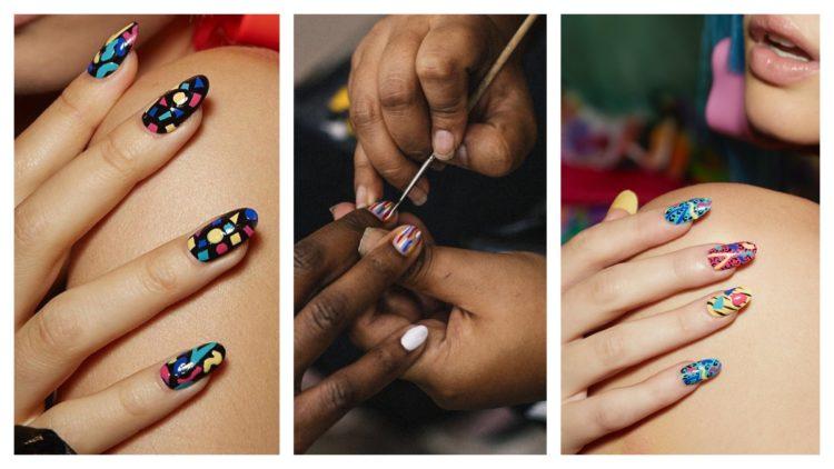 naglar kontrast färg s20