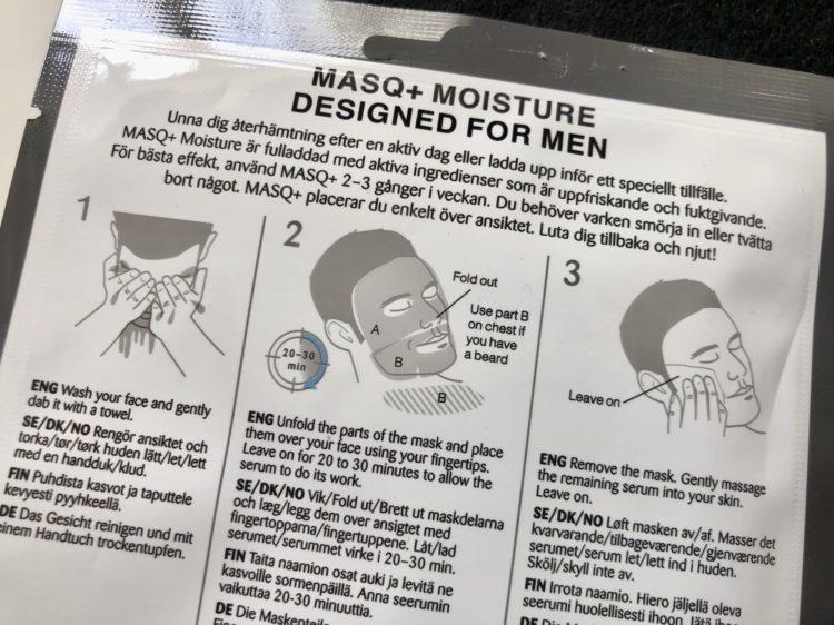 hudvård mask män