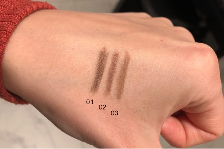 Styling eyebrow pencil swatch