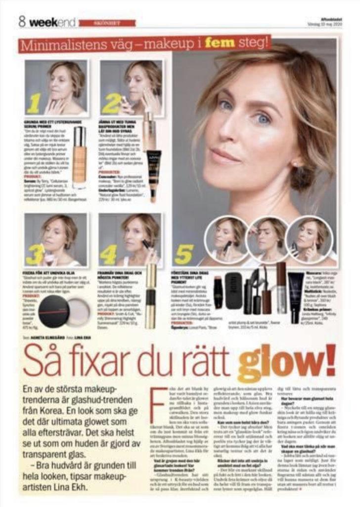 steg för steg makeup glow