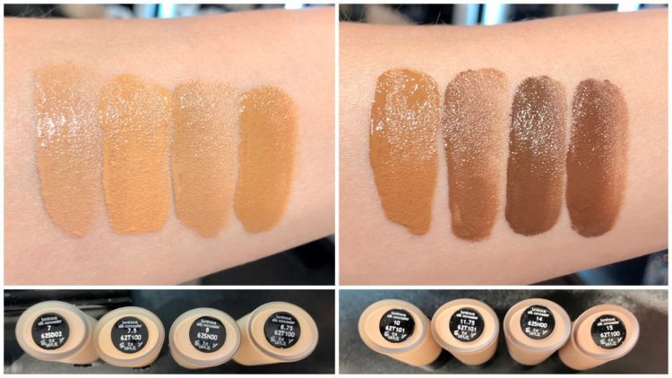 armani Luminous Silk concealer swatches