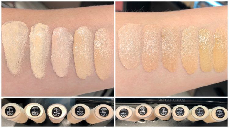Luminous Silk concealer swatches