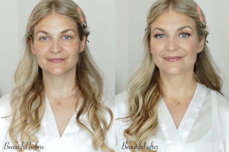före och efter sminkning